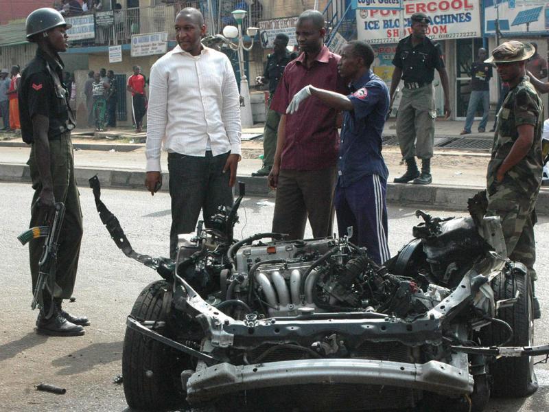 Carro armadilhado explode na cidade de Kaduna, Nigéria (EPA)
