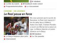«Real passa em força», diz o LEquipe, edição online