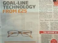 Anúncio com tecnologia de linha de golo