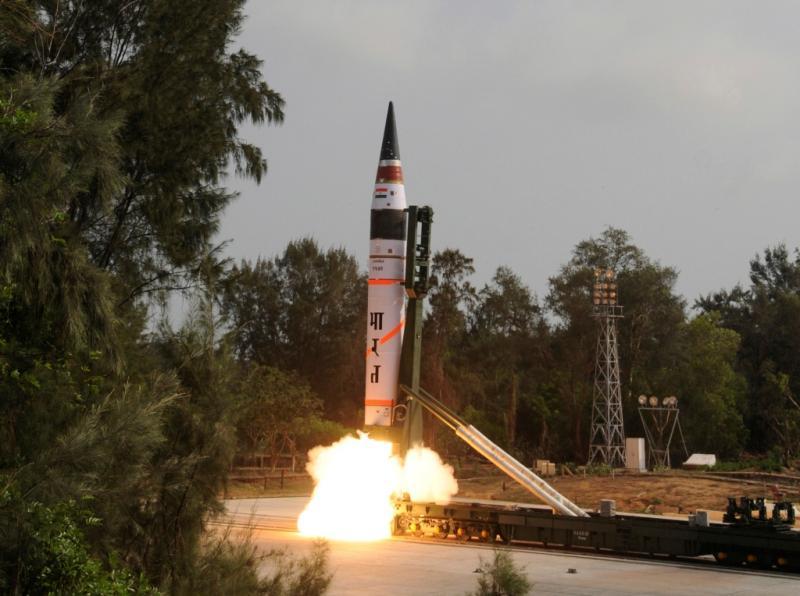 Míssil lançado com sucesso na Índia