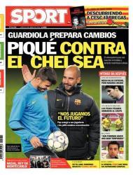 Sport diz que Guardiola prepara mudanças: «Piqué contra o Chelsea»