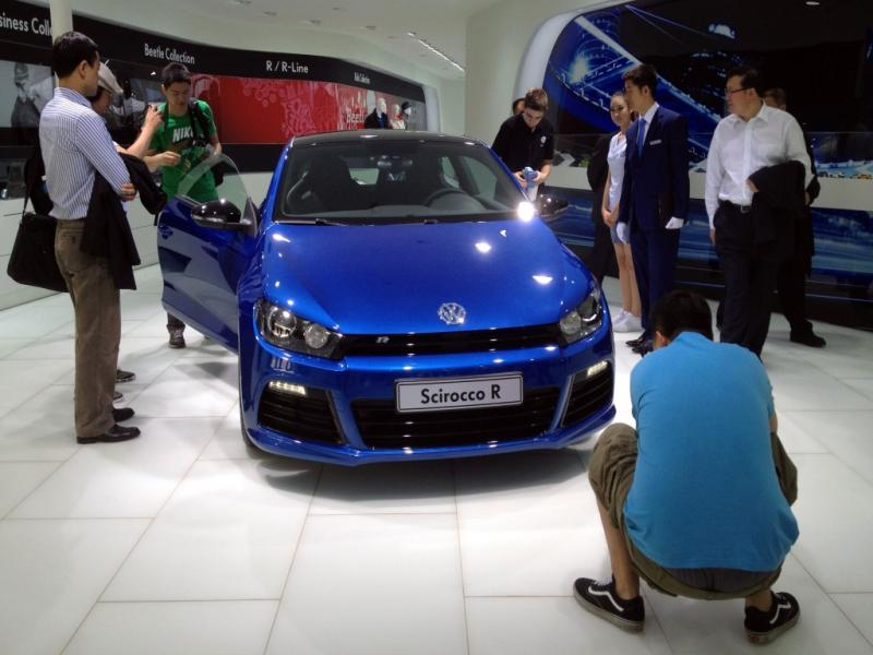 Scirocco azul da Autoeuropa faz furor na China (LUSA)