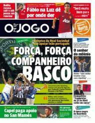 «O Jogo»: Força companheiro basco, adeptos da Real Sociedad com o Sporting