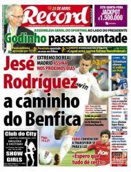 «Record»: Jesé Rodriguez, extremo do Real Madrid, a caminho do Benfica