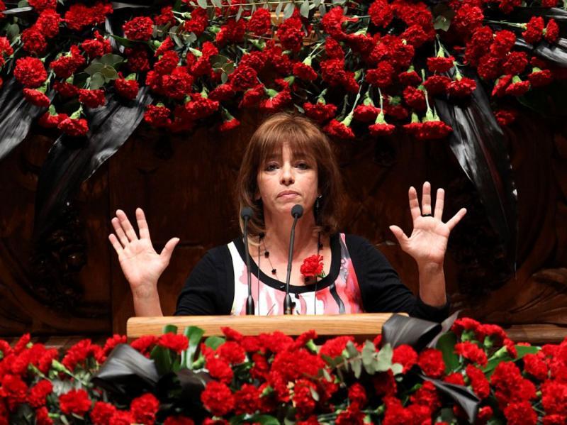 Cecília Honório nas comemorações do 25 de Abril (TIAGO PETINGA/LUSA)