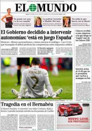«El Mundo»: «Tragédia no Bernabéu»