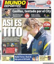 «Mundo Deportivo»: um retrato de Tito Vilanova, Casillas tentatado pelo City