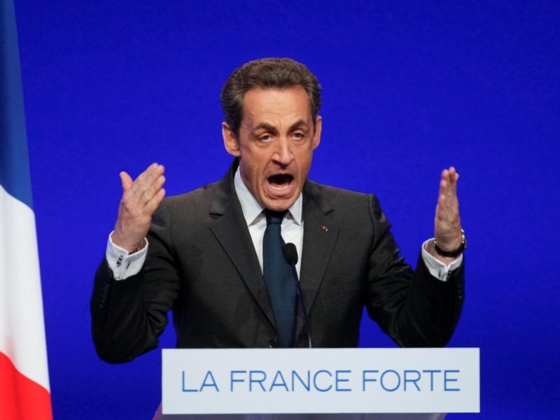 Nicolas Sarkozy em campanha  (Reuters)