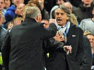 Ferguson e Mancini discutiram no derby [EPA/Peter Powell]