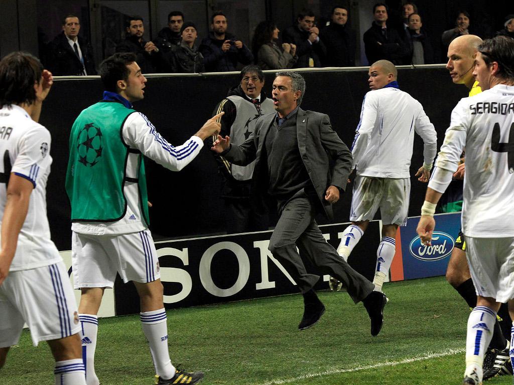 Mourinho no Real Madrid [Arquivo Maisfutebol]