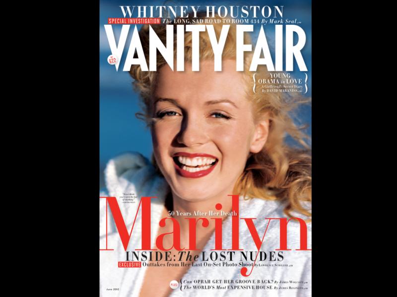Marilyn Monroe na capa da edição de junho da «Vanity Fair»