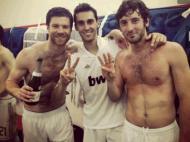 A festa do Real Madrid no balneário (FOTO: twitter Granero)