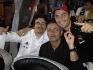 A festa do Real Madrid no balneário (FOTO: facebook Ronaldo)