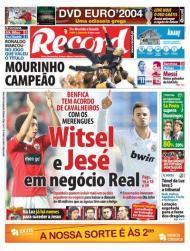 «Record»: Witsel e Jesé» em negócio Real»; jornal diz que clubes têm «acordo de cavalheiros»