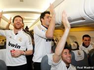 Real Madrid: a festa no avião