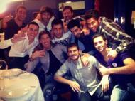 Plantel do Real Madrid prepara-se para a festa (twitter Arbeloa)