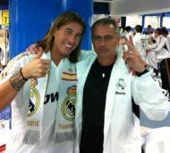 Plantel do Real Madrid prepara-se para a festa (twitter Sergio Ramos)