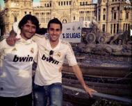 Plantel do Real Madrid faz a festa (twitter Arbeloa)