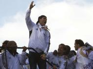 Plantel do Real Madrid em festa (Reuters)