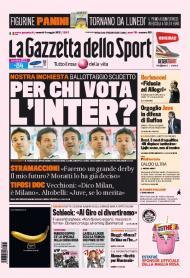 «La Gazzetta dello Sport»: em quem vota o Inter, antes de um derby com vista para o scudetto?