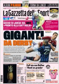 «Gazzetta dello Sport»: este domingo há derby (Inter-AC Milan)