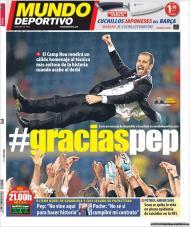 «Mundo Deportivo»: Pep Guardiola homenageado após o derby