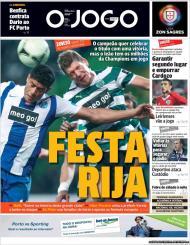 «O Jogo»: F.C. Porto quer celebrar com vitória, Sporting de olho nos milhões da Champions