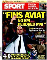 «Sport»: «despedida emotiva de Guardiola no Camp Nou»