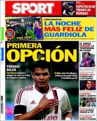 Sport: Thiago Silva é a primeira opção para o Barça