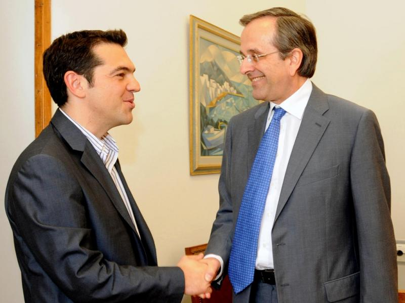 Alexis Tsipras e Samaras (Reuters)