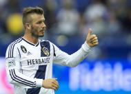 David Beckham em jogo amigável no Canadá Foto: Reuters