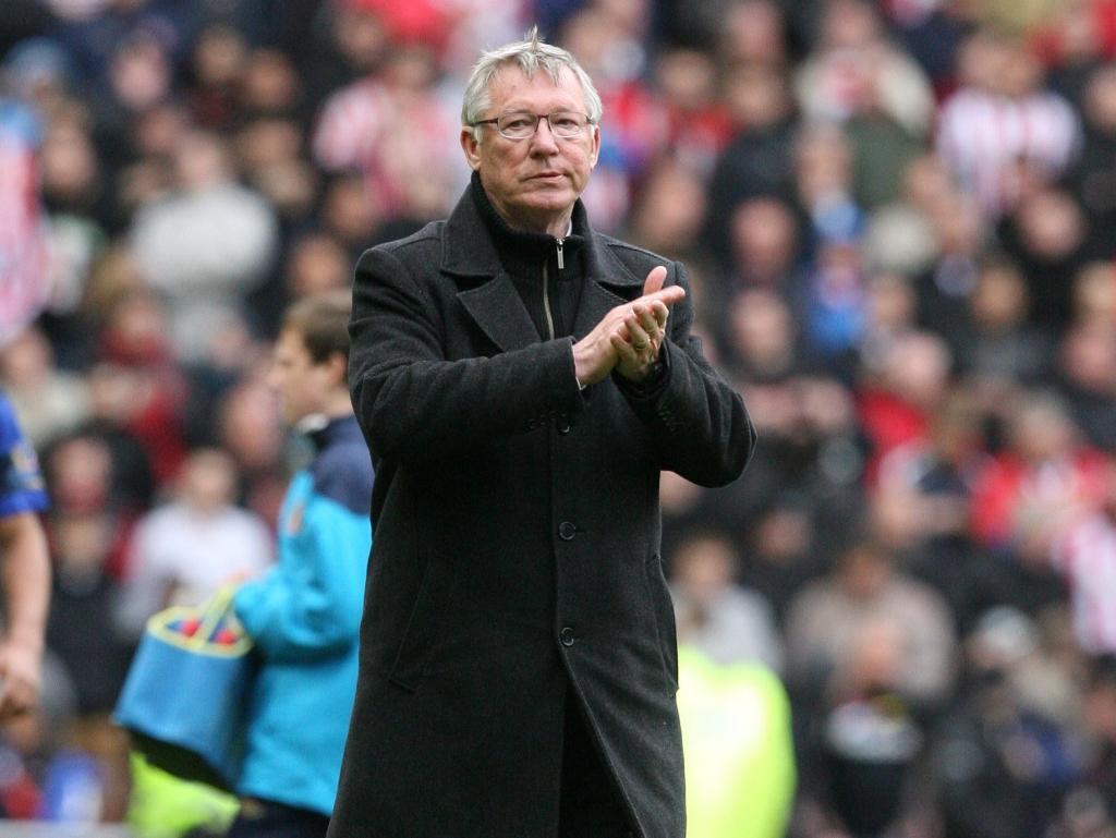 Alex Ferguson no adeus ao título