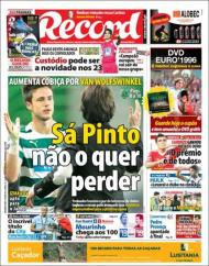 «Record»: Sá Pinto quer segurar Van Wolfswinkel