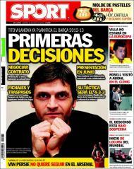 «Sport»: Tito Vilanova já planeia a época 2012/13