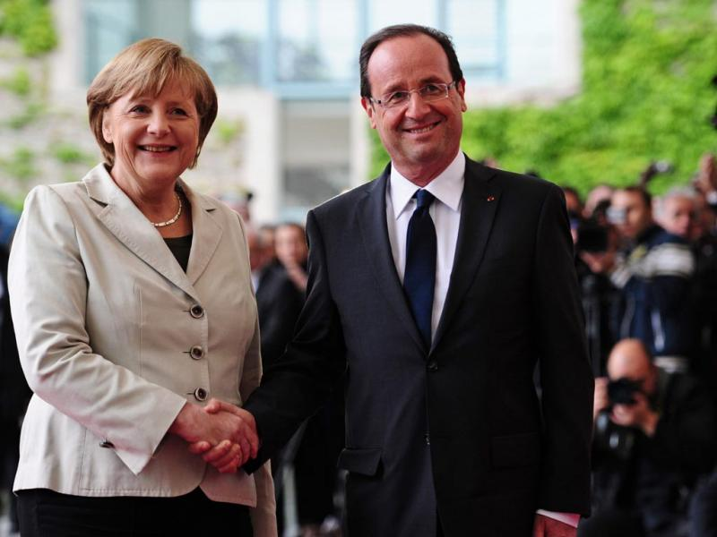 Merkel e Hollande em Berlim,