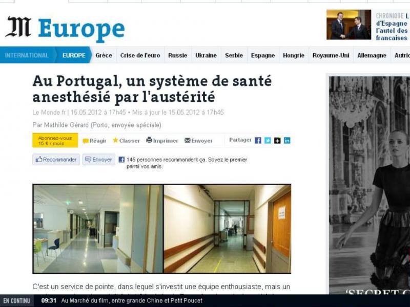 Le Monde - Sistema de saúde português