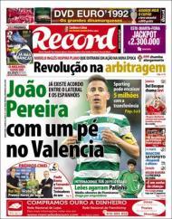 «Record»: João Pereira de saída