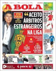 «A Bola»: Vítor Pereira aceita árbitros estrangeiros