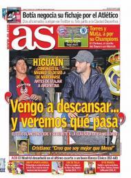 Higuaín não quer voltar ao Real Madrid (As)