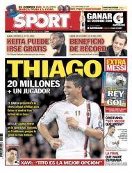 Barcelona avança para Thiago Silva (Sport)