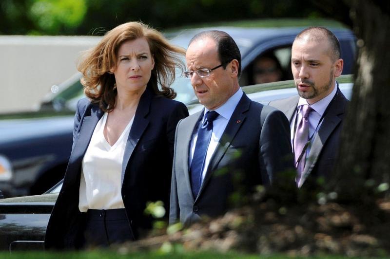Valerie Trierweiler acompanha François Hollande na primeira visita aos EUA Foto: Reuters
