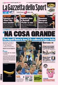 Gazzetta dello Sport: Nápoles conquista a Taça de Itália