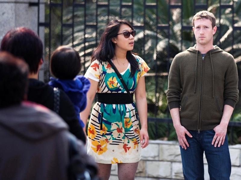 Mark Zuckerberg e Priscilla Chan em viagem à China [Foto: Reuters]