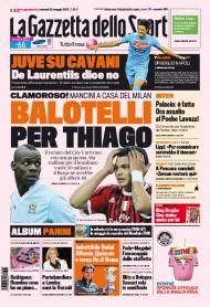 Gazzetta: Balotelli por Thiago Silva