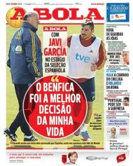 A Bola: Javi Garcia elogia Benfica