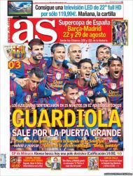 «As»: «Guardiola sai pela porta grande»