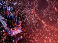 Corunha em festa com a subida [Reuters]