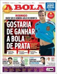 A Bola: Rodrigo quer ser homem-golo