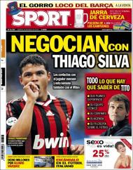 Sport: ataque a Thiago Silva