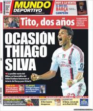 «Mundo Deportivo»: Barça pode garantir Thiago Silva